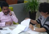 Abdul, our long partner visited our company
